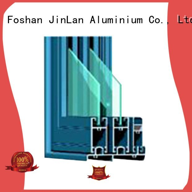blasting window profiles aluminium extrusion sections JinLan