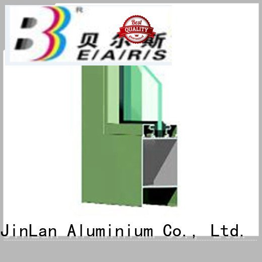 frame aluminium extrusion sections grain wood JinLan