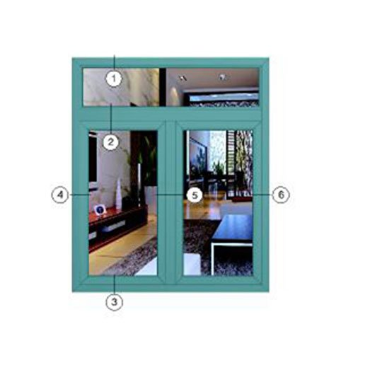 Aluminium Section Window 50C