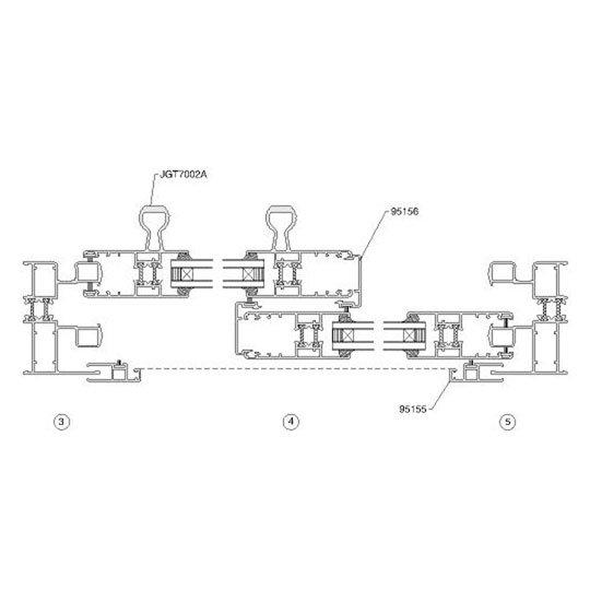 Aluminium Window Section Details 95A