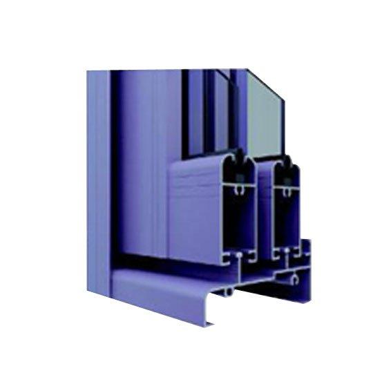 JinLan Wood Grain Aluminium Sections for Windows 808B Aluminium Window and Door Section image2
