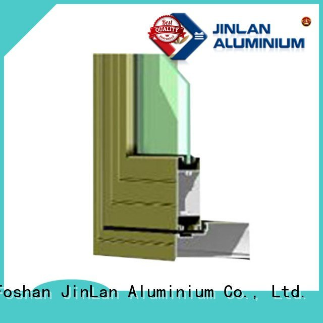 blasting window windows aluminium extrusion sections JinLan