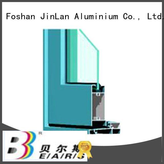 JinLan Brand blasting aluminium section frame extrusion