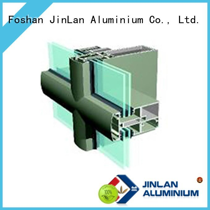 JinLan Brand walls curtain aluminum curtain wall wall systems