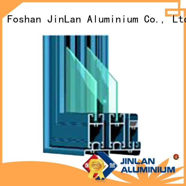 aluminium section window door wood details JinLan