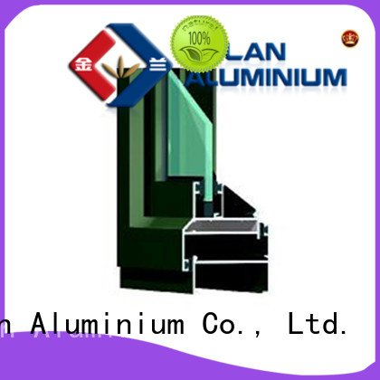 Wholesale window grain aluminium extrusion sections JinLan Brand
