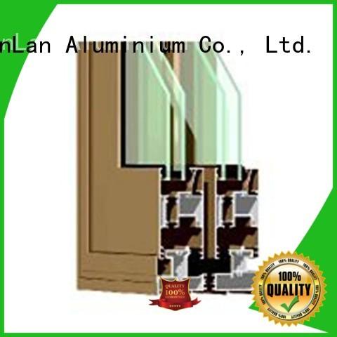 JinLan Brand windows profiles aluminium sliding doors manufacture