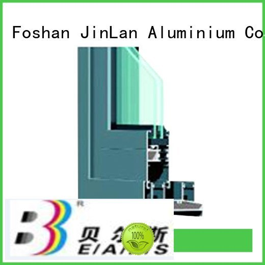 JinLan Brand details section aluminium extrusion sections wood profile
