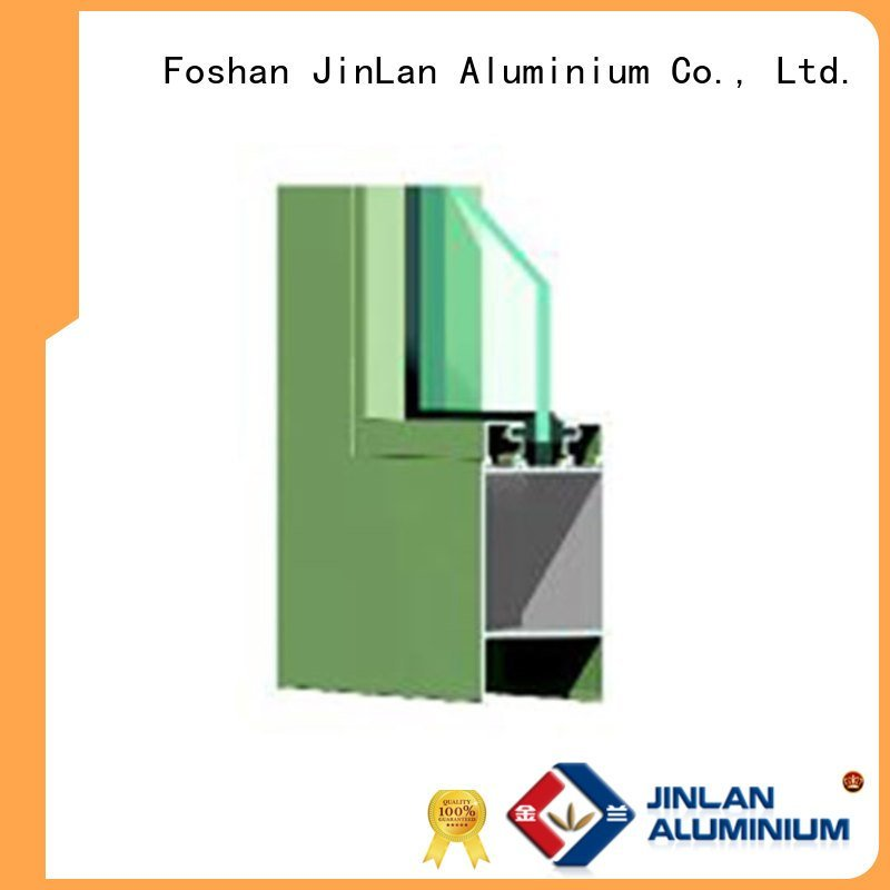 JinLan Brand sections details sliding aluminium section