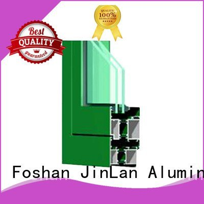 Quality aluminium section JinLan Brand wood aluminium extrusion sections