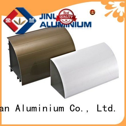 JinLan Brand extrusion aluminium pipe aluminium extrusion manufacturers in china stand