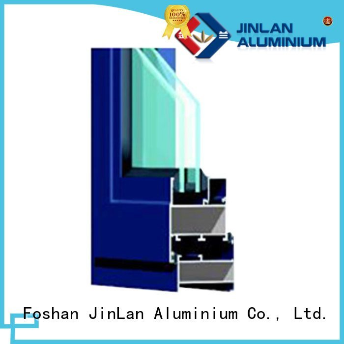 JinLan Brand aluminum aluminium section window door