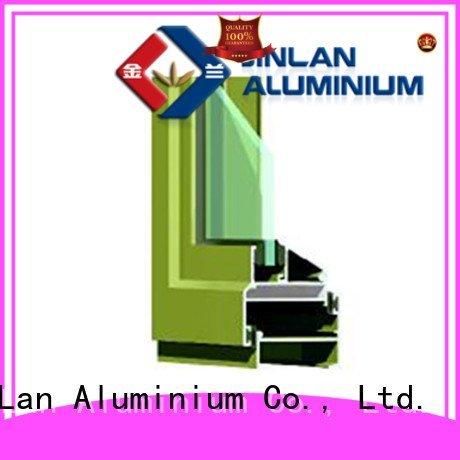 sliding aluminum JinLan aluminium extrusion sections