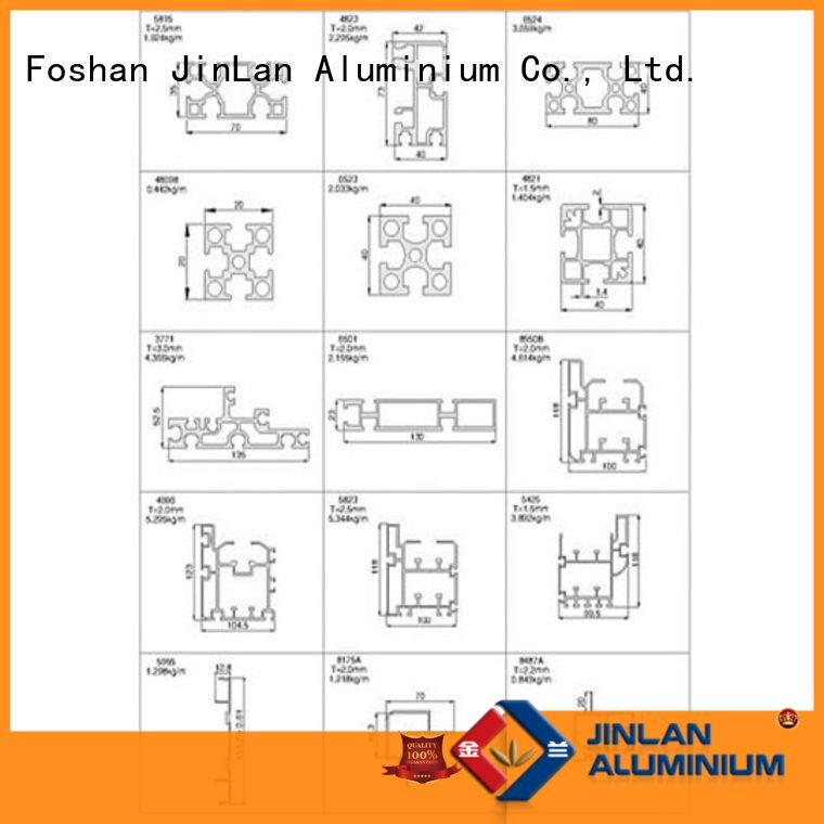 profile aluminium extrusion manufacturers in china pipe JinLan