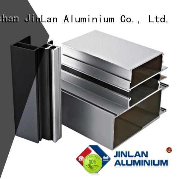 Hot aluminum rectangular tubing profile stand extrusion JinLan Brand