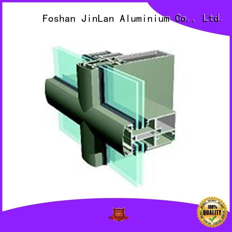 JinLan Brand curtain series aluminium aluminum curtain wall wall
