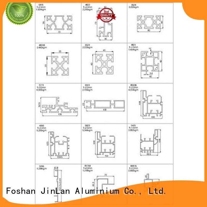 Custom best aluminium sliding doors profile JinLan