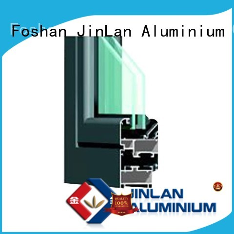 profile best high quality JinLan Brand aluminium doors manufacture