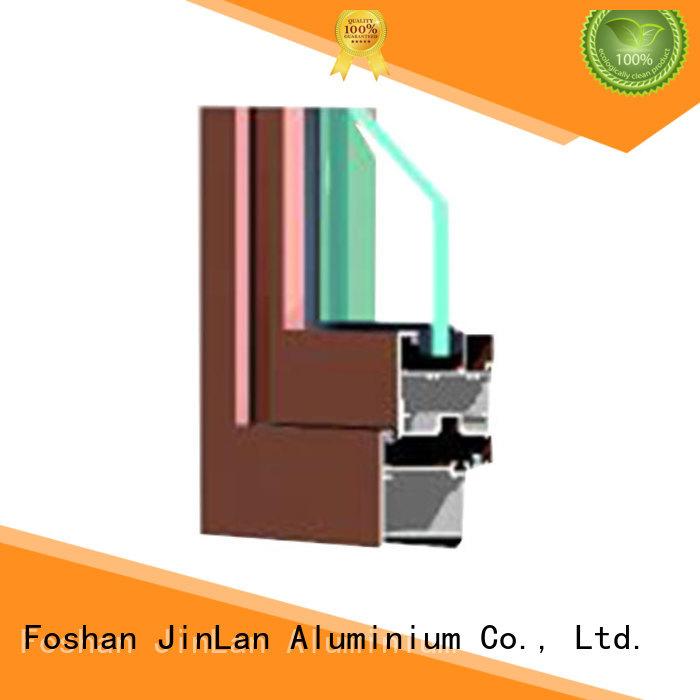 sliding aluminium extrusion sections windows details JinLan company