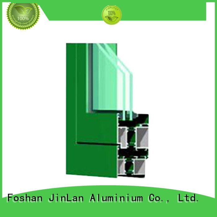 JinLan aluminium extrusion sections blasting windows grain sections