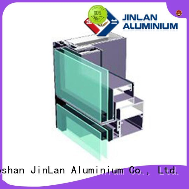Quality aluminium curtain wall JinLan Brand systems aluminum curtain wall