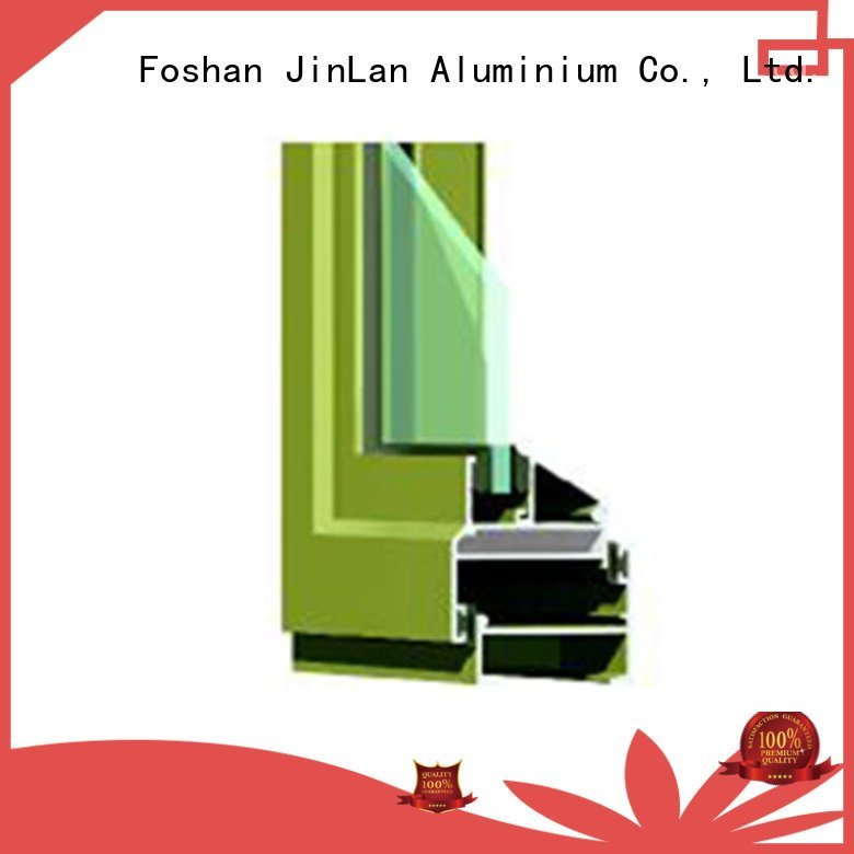 JinLan Brand details profiles aluminium extrusion sections sill windows