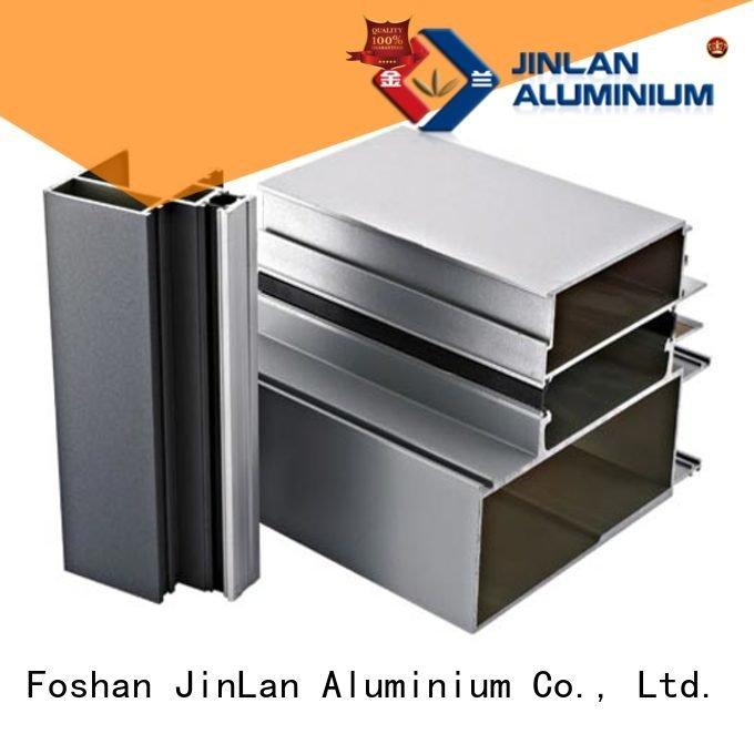 JinLan Brand aluminium systems pipe aluminum rectangular tubing