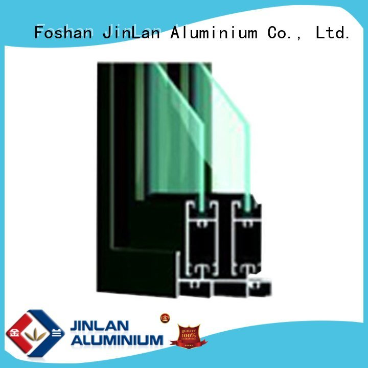 JinLan Brand sections grain wood aluminium extrusion sections