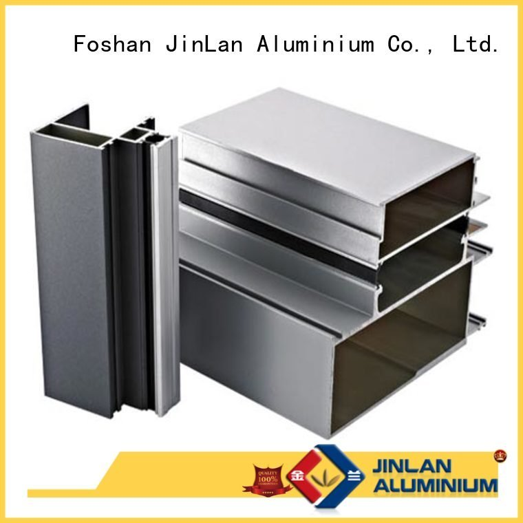 aluminum rectangular tubing pipe aluminium extrusion manufacturers in china JinLan Brand