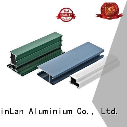 aluminum rectangular tubing pipe stand extrusion profile JinLan