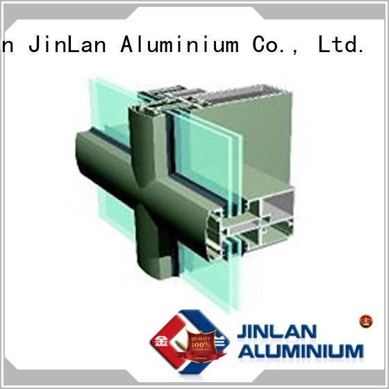 JinLan aluminum curtain wall aluminium walls systems curtain