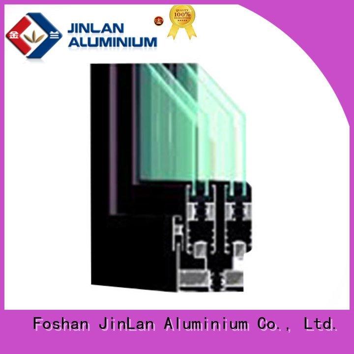 wood aluminium extrusion sections JinLan aluminium section