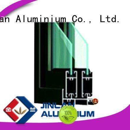 JinLan Brand window blasting frame aluminium extrusion sections