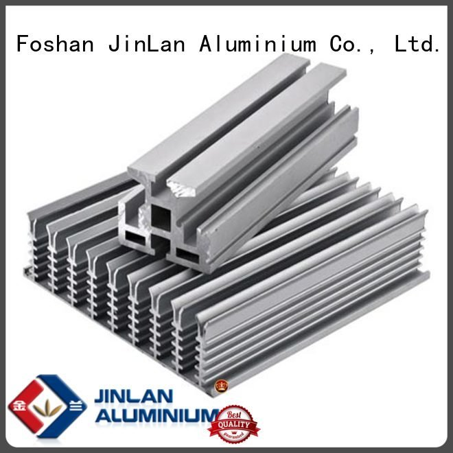 Custom aluminium extrusion manufacturers in china aluminium pipe profile JinLan