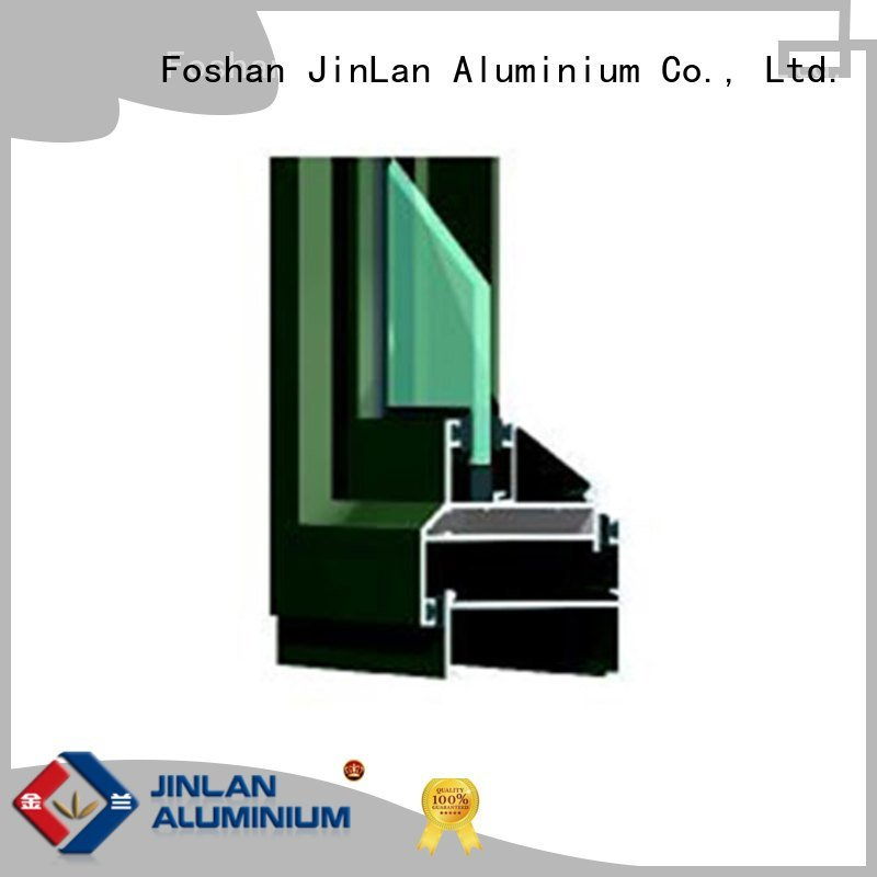 JinLan aluminium extrusion sections wood details extrusion section