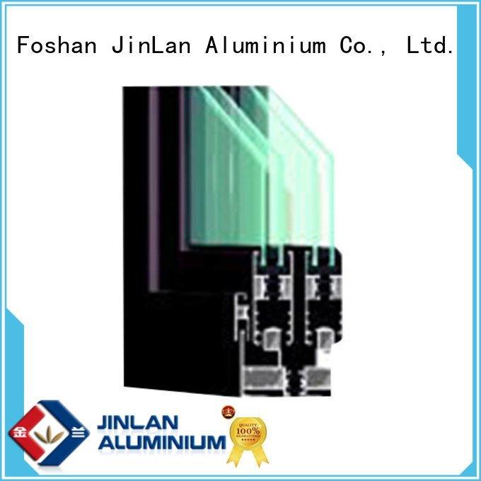 JinLan customized windows extrusion aluminium section details
