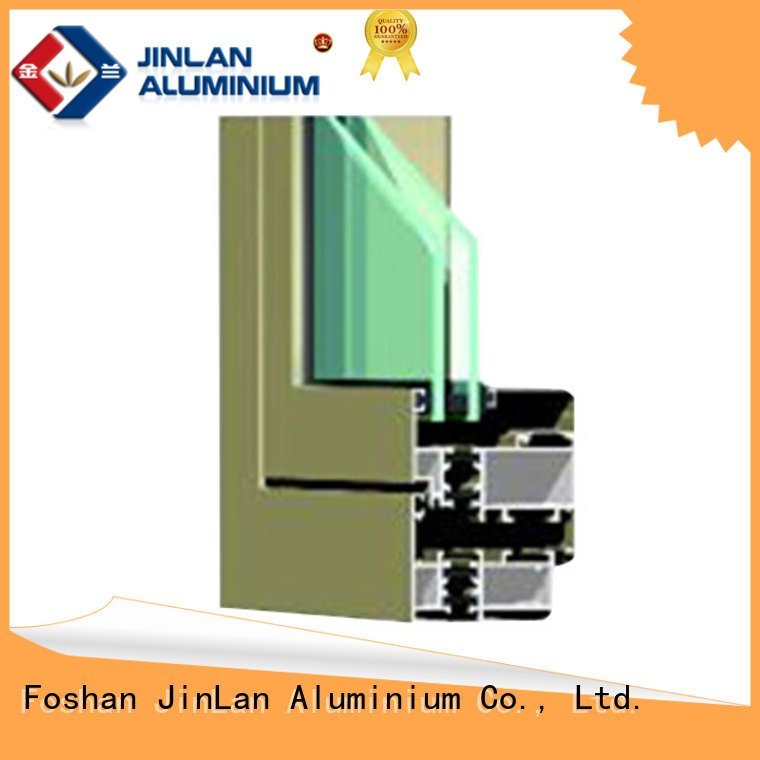 aluminium section sliding aluminium extrusion sections JinLan Brand