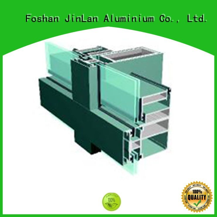 aluminium curtain wall systems walls aluminum curtain wall JinLan Brand