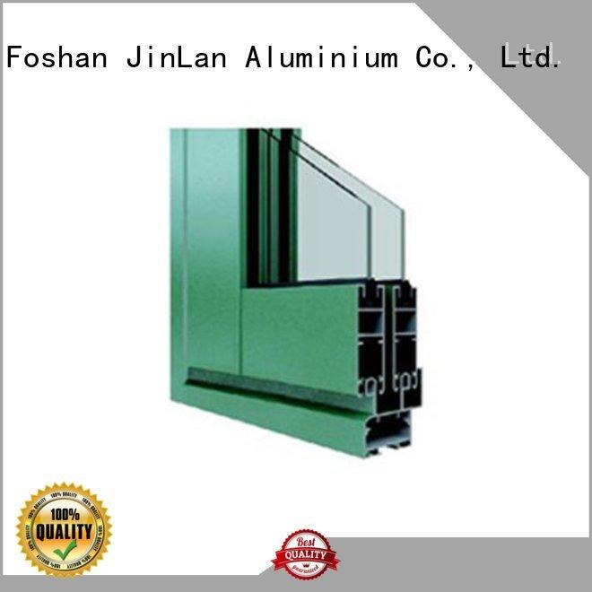 section blasting OEM aluminium sliding doors JinLan