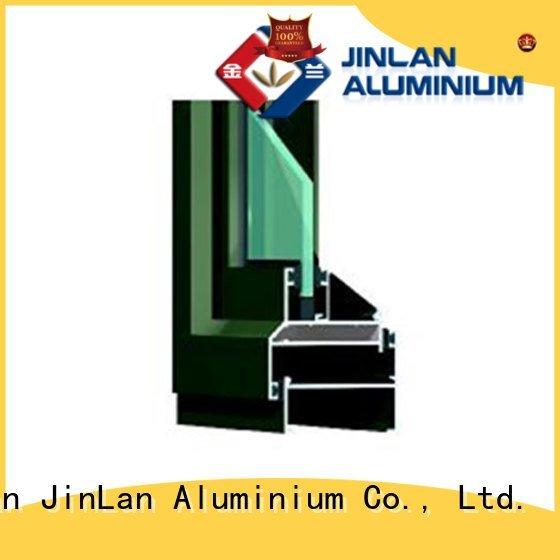JinLan Brand profiles blasting aluminium extrusion sections window sliding