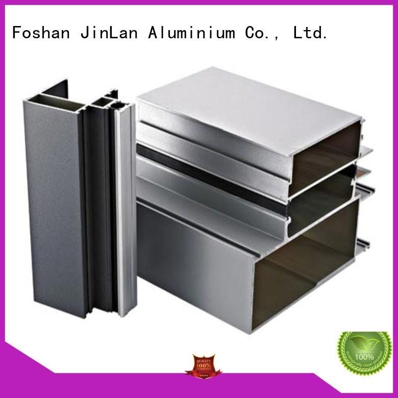 Hot aluminum rectangular tubing systems aluminium extrusion manufacturers in china stand JinLan