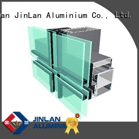 JinLan aluminium curtain wall wall aluminum curtain walls