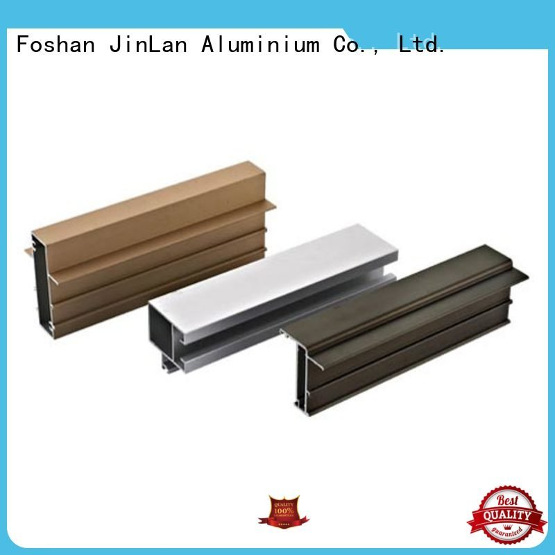 aluminum rectangular tubing profile pipe aluminium extrusion manufacturers in china JinLan Brand