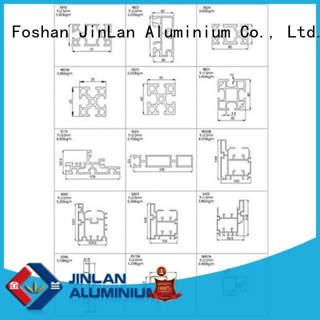 solar systems JinLan aluminum rectangular tubing