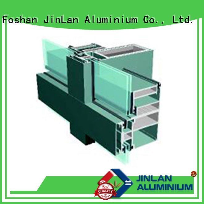 JinLan aluminium curtain wall curtain aluminium walls