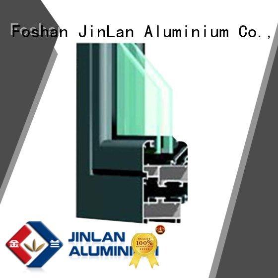 JinLan Brand aluminium section aluminium extrusion sections aluminum sand