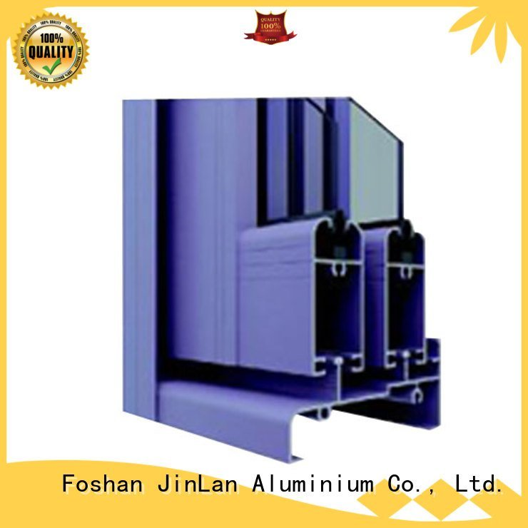 door profile JinLan aluminium extrusion sections