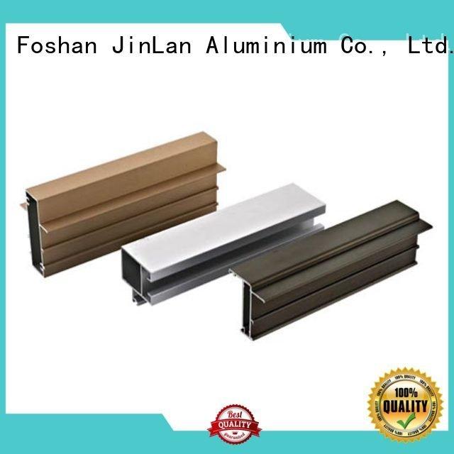 Hot aluminum rectangular tubing extrusion profile pipe JinLan Brand