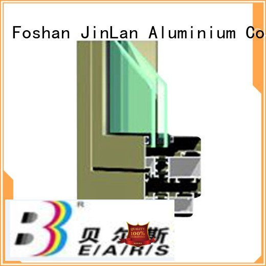 Quality aluminium section JinLan Brand sliding aluminium extrusion sections