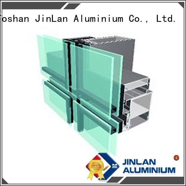 curtain systems series aluminium curtain wall JinLan